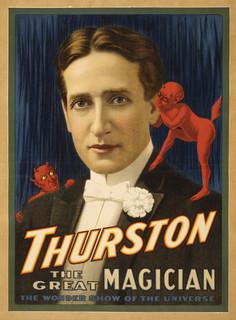 """""""Thurston, Devil Telling Him Secrets Magic Poster #2"""" Print, 9""""x12"""""""