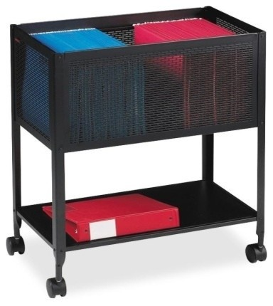 Lorell Mesh Rolling File Cart - Contemporary - Office Carts And Stands - by Alliance Supply