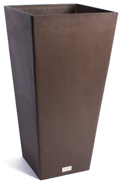 Ramona Square Planter Box, Dark Brown, 32.