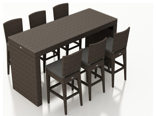 Surprising Arden 7 Piece Bar Set Canvas Charcoal Gmtry Best Dining Table And Chair Ideas Images Gmtryco