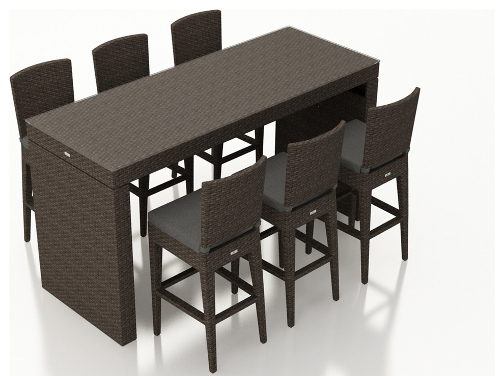 Arden 7 Piece Bar Set Tropical Outdoor Dining Sets By Harmonia Living