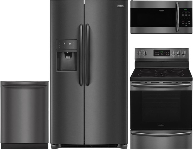 "4-Piece Frigidaire Kitchen Package With 36"" Refrigerator."