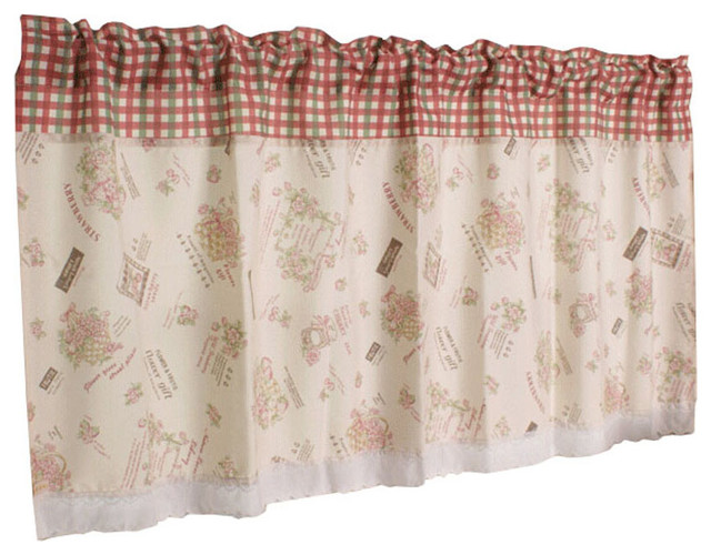 Short Kitchen Cloth Curtain Small Window Half Blackout Curtain Contemporary Valances By Blancho Bedding,Light Chocolate Brown Hair Color With Caramel Highlights
