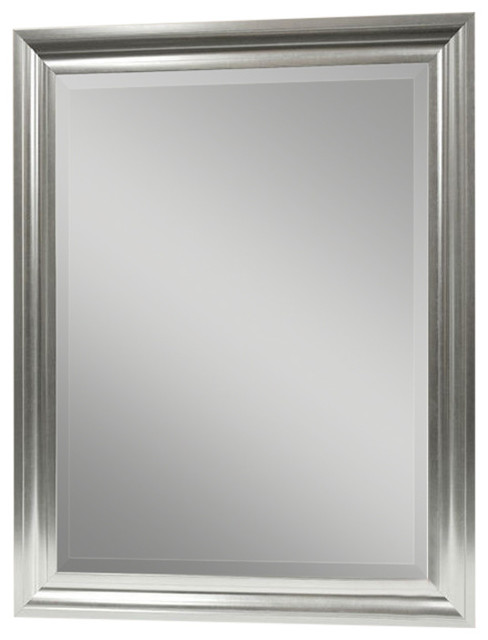 Vanity Mirror With Satin Silver Finish