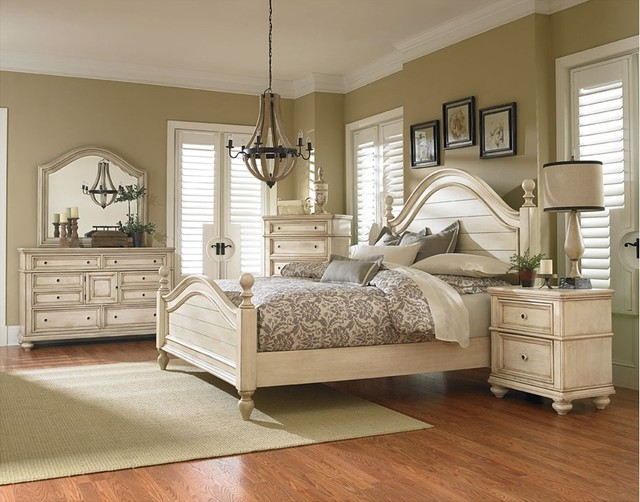 El Dorado Furniture Furniture Accessories Chateau King Poster Bed Shabby Chic Style Bedroom