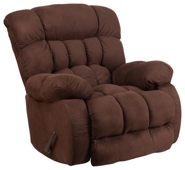 microfiber suede rock n recliner chair contemporary