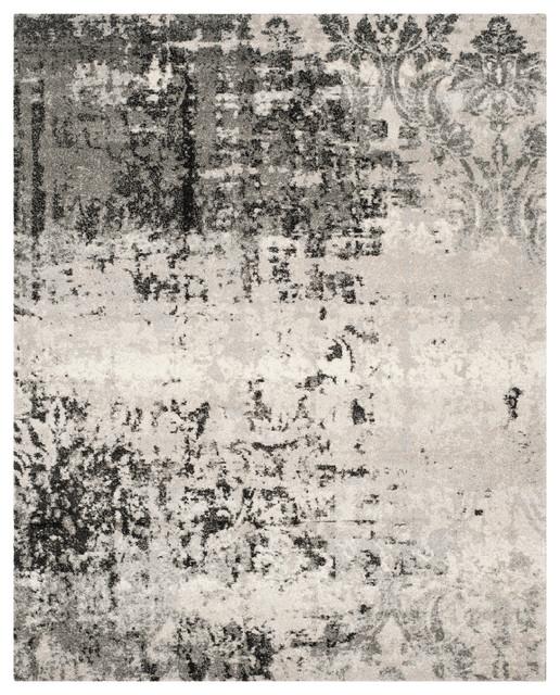 Safavieh Retro Woven Rug, Light Gray/gray, 8&x27;x10&x27;.