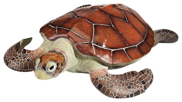 Flat Back Sea Turtle Statue