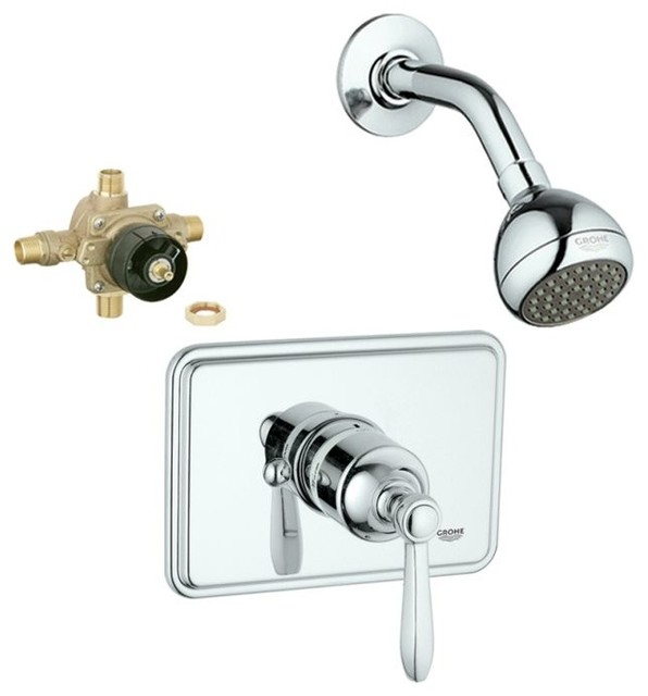 Somerset Shower Valve Kit Transitional Tub And Shower Faucet Sets By Tr