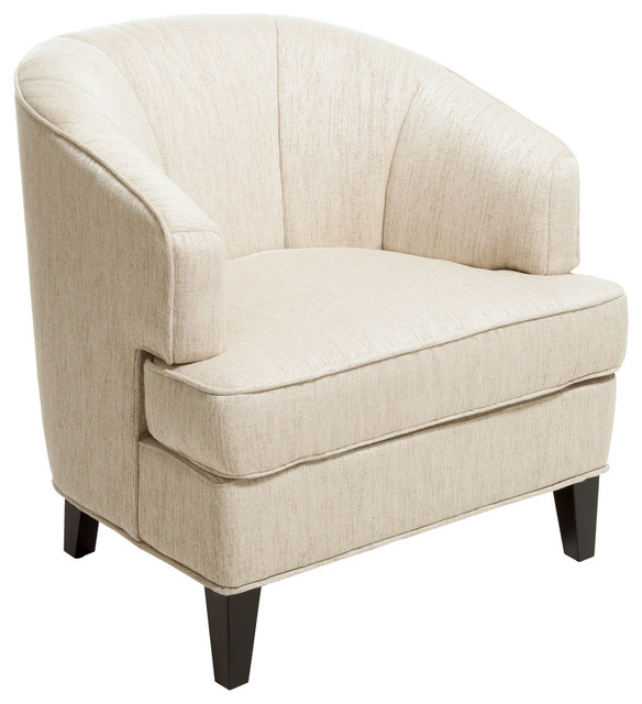 Camden Fabric Club Chair, Beige Contemporary Armchairs And Accent Chairs