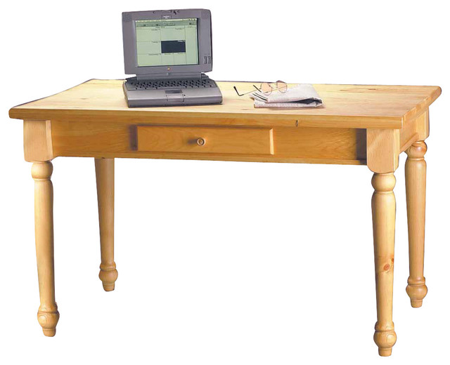 """192213 Mission Country Pine Office Desk 28 3/4""""H traditional-desks-and"""
