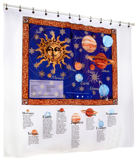 Out Of This World The Solar System Shower Curtain