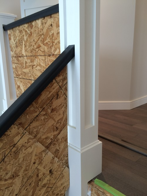 ... As Well As Other Pics In Daylight After The Stairs Were Ripped Out.  Notice The Temporary Railing, As We Are Moving In Before This Will Be  Completed.