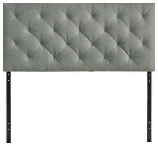 Modern Contemporary Bedroom Queen Headboard Gray
