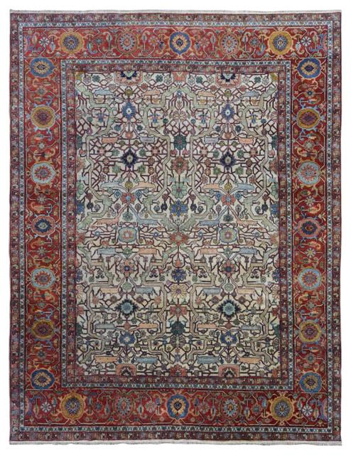 Very Fine Serapi Oriental Area Rug 7 11x9 11