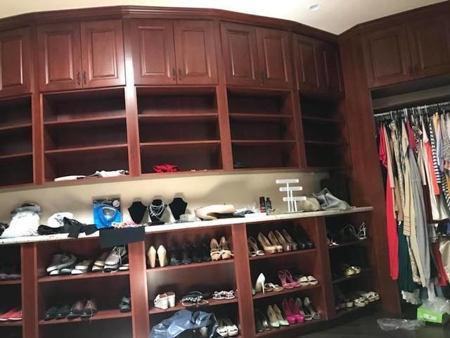 Elegant closet photo in Orange County