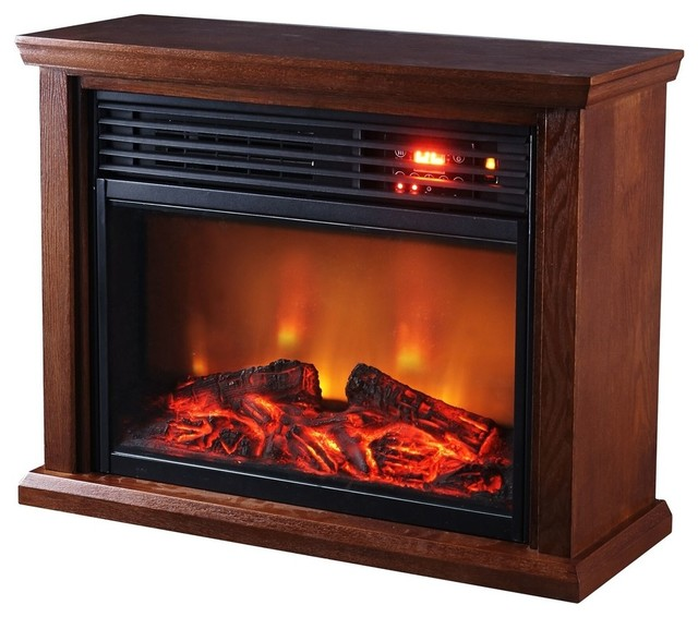Optimus Fireplace Infrared Heater With Remote Control.