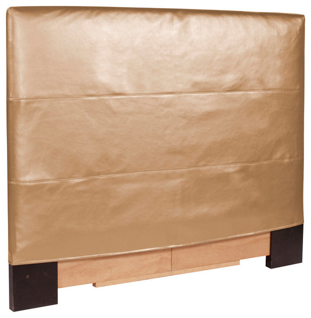Shimmer gold headboard slipcover contemporary for King furniture slipcovers