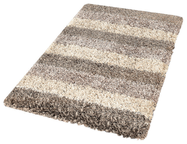 Taupe Modern Non Slip Washable Bathroom Rug Lounge