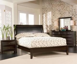 Coaster Phoenix 5-Piece King Panel Bedroom Set, Deep Cappuccino
