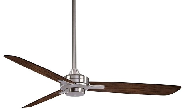 Minka Aire Rudolph Ceiling Fan Brushed Nickel With