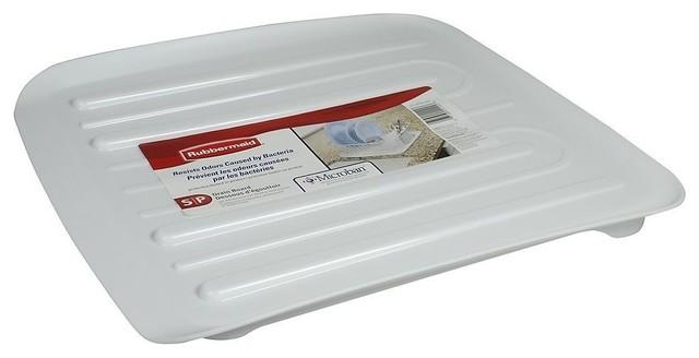 Rubbermaid 1180-Ma-Wht Microban Antimicrobial Dish Drain Board, Small, White