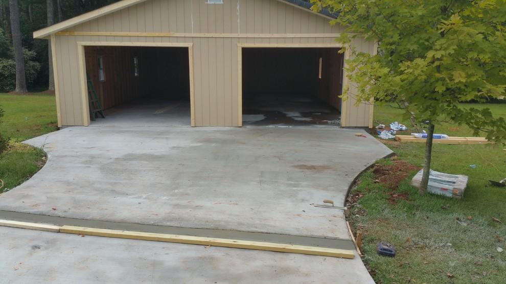 Block retaining wall/Concrete slab/additional driveway