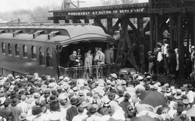 Quot Alton Iowa View Of Teddy Roosevelt At Alton Depot