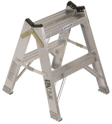 Werner Type Ia Aluminum Twin Step Stool, 2&x27;.