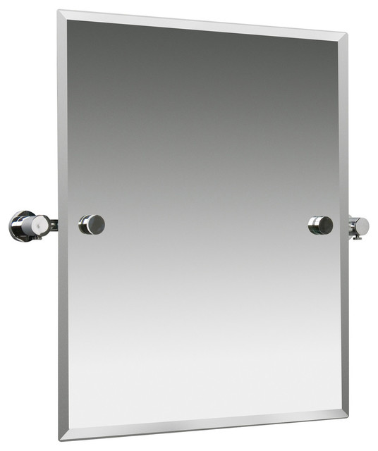 Montana Chrome Swivel Mirror Contemporary Bathroom Mirrors