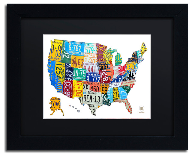 License Plate Map USA 2\