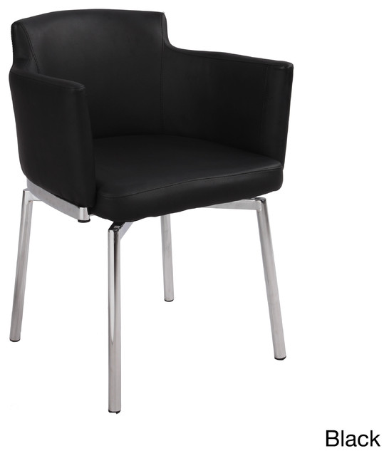 Club style modern swivel arm chair set of 2 for Modern swivel accent chair