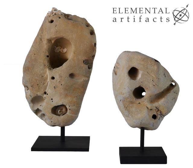 Natural Sculptural Beach Stones
