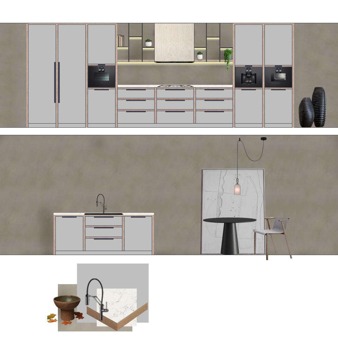 Kitchen design concept boards