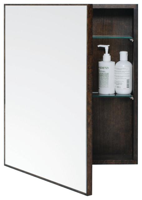 Dark oak bathroom cabinet
