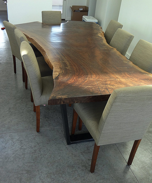 Captivating Claro Walnut Dining Table Modern Dining Room