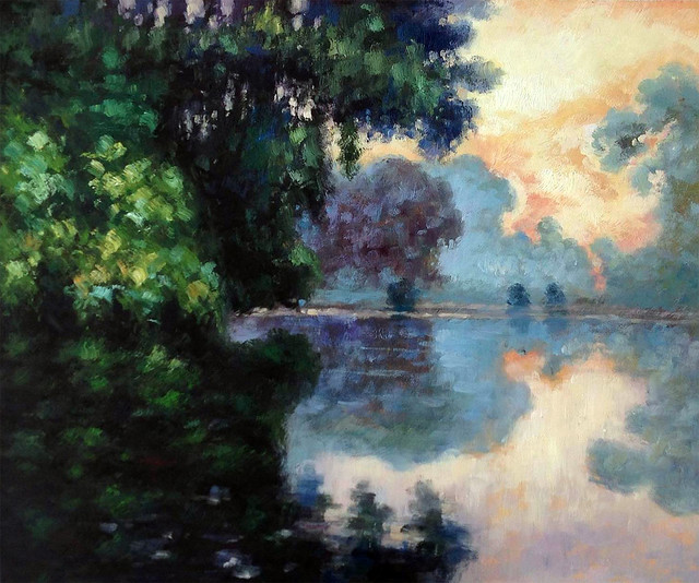 Monet, Morning On The Seine Near Giverny, Unframed Loose Canvas.
