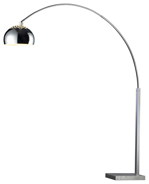 penbrook arc floor lamp with white marble standard