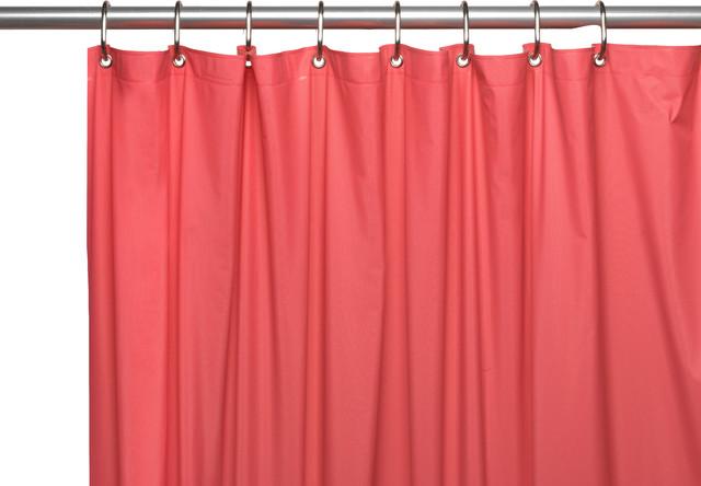 Carnation Hotel 8 Gauge Vinyl Shower Curtain Liner Grommets Light Blue 72 x 72