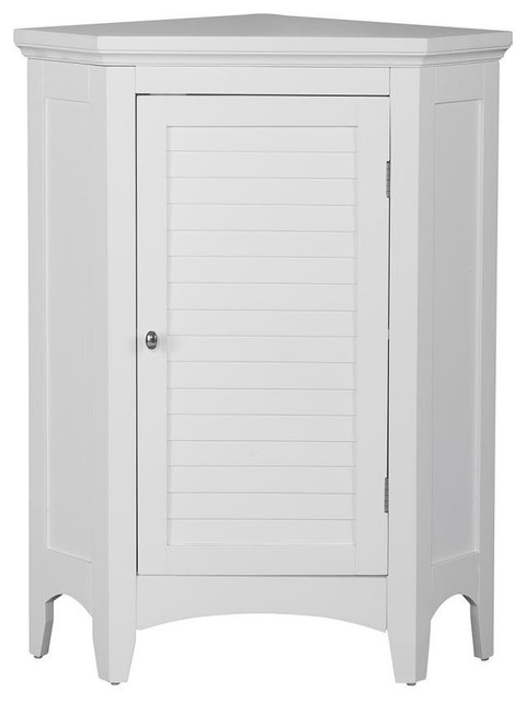 slone corner floor cabinet with 1 shutter door