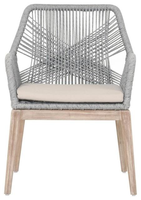 loom armchairs set of 2 platinum