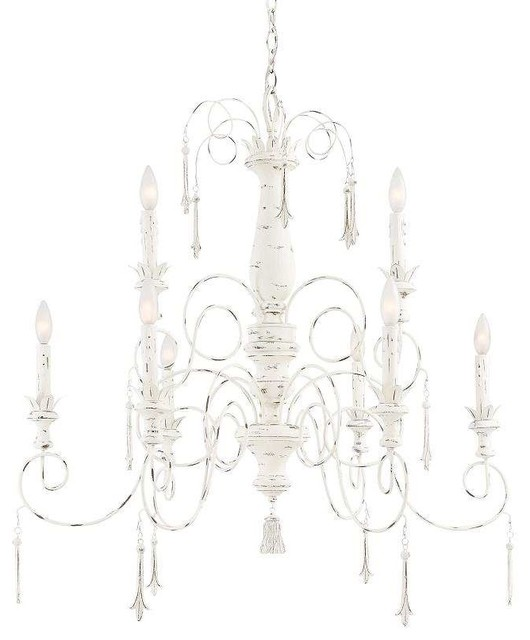 Minka Lavery 1239-648 Accents Provence Chandelier In Provencal Blanc