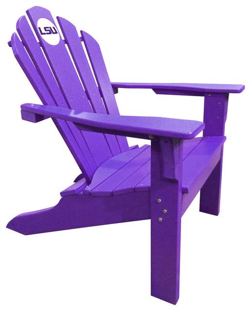 Lsu Tigers Big Daddy Purple Composite Adirondack Deck