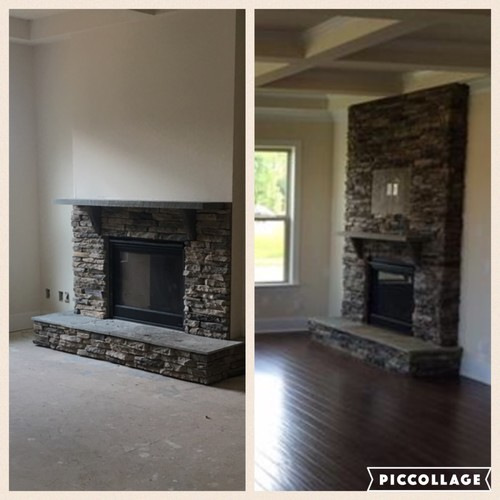 fireplace full stone or half which one should i go with