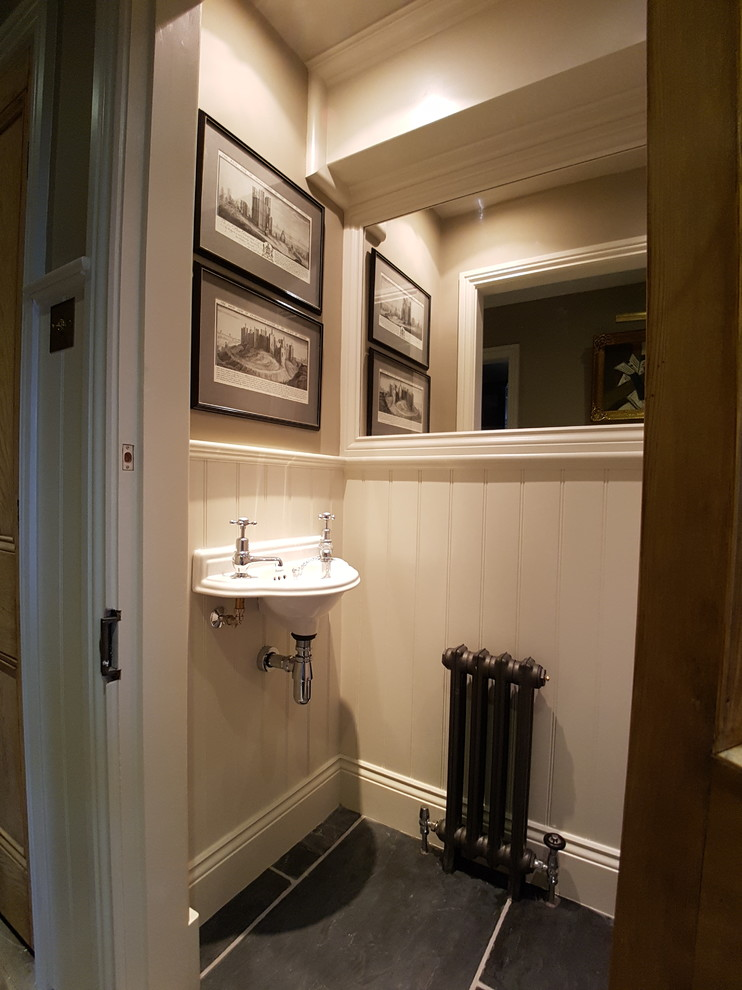 Example of a classic powder room design in Gloucestershire