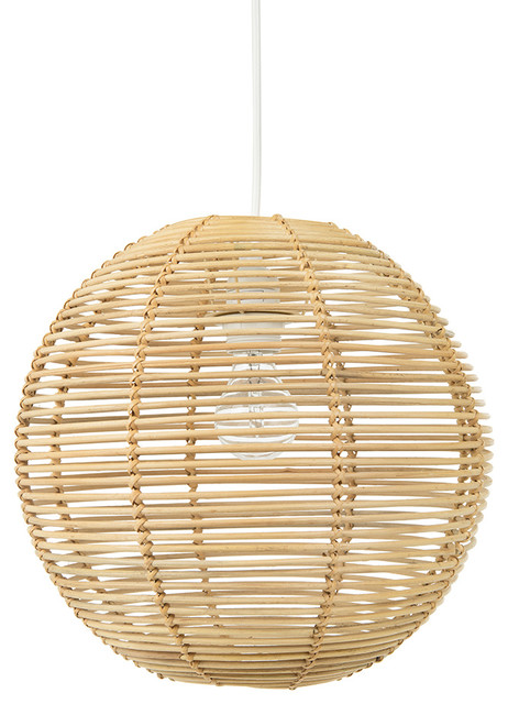 Palau Continuous Weave Wicker Ball Pendant Lamp, Natural tropical-pendant- lighting