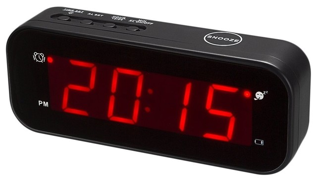 Kwanwa Led Digital Alarm Clock Battery Operated Only Small Contemporary Clocks By Plexi Place