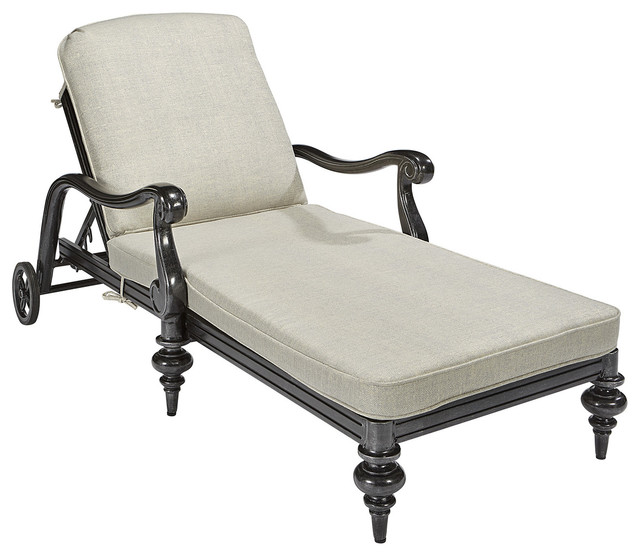 A.R.T Arch Salvage Outdoor Cannes Chaise Lounge, Black 933525-4241