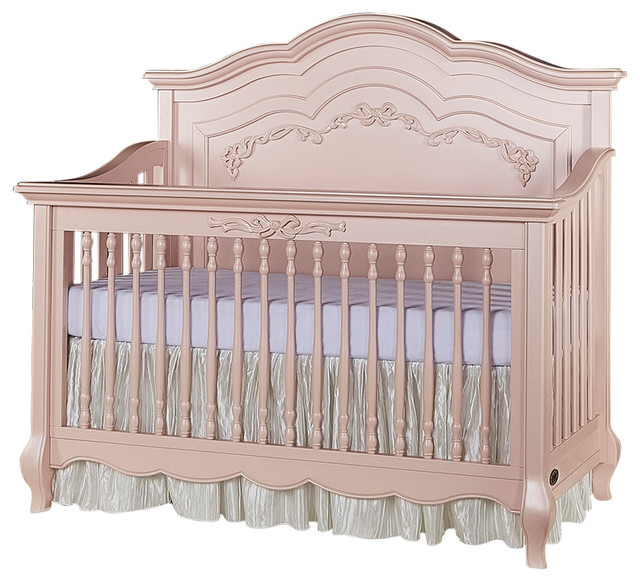 Charlotte 5-in-1 Convertible Crib, Pink