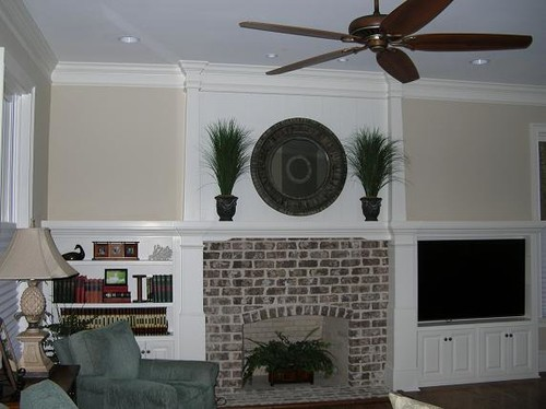 Need Ideas For Walls Top Shelf On Either Side Of Fireplace